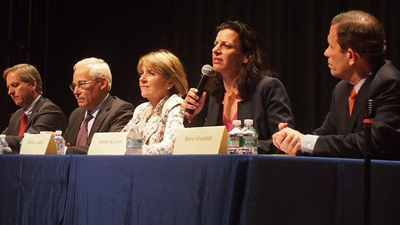The five Democratic candidates for governor gave their positions on economic, housing and social issues during a forum sponsored by ...