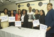 New York Coalition of One Hundred Black Women members with (fourth from left) Nkechi Ogbodo and (fifth from left) Nnenna Agba