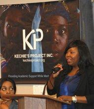 Nkechie Ogbodo addresses audience.