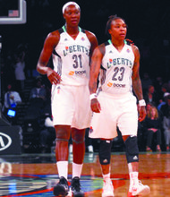 Tina Charles and Cappie Pondexterare leading the way withtheir veteran experience.