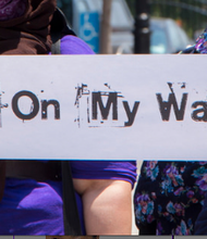 """Not on my watch"" campaign against human trafficking in NYC."