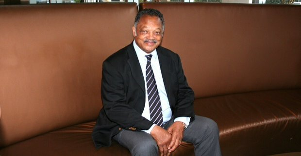 Jesse Jackson takes a quick breath before heading out on day two of his Dallas tour that will end with a meeting with AT&T national executives at the local headquarters.