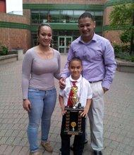 Spelling bee 1st grade winner Corey Cid