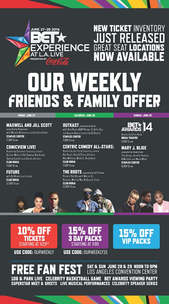OurWeekly Friends & Family Offer Featured artists: Rick Ross, Outkast, The Roots, Mary J. Blige, Trey Songs, DJ Khaled & ...
