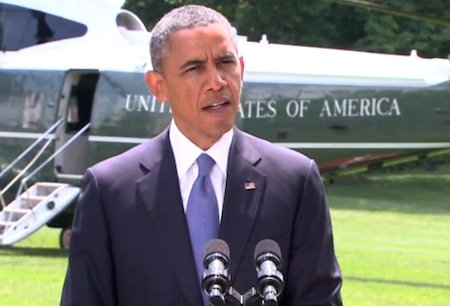 "President Barack Obama said Friday the United States ""will not be sending troops back into combat in Iraq,"" though he ..."