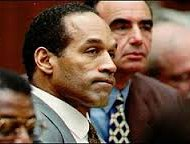 O.J Simpson during his trial