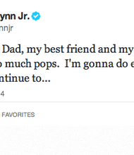 Tony Gwynn Jr. mourns the death of his father on twitter.