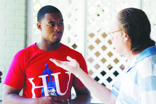 A group of students left the safety and comfort of their college campus and sparked discussions with local residents last ...