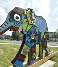 Elephants arrive in Mondawmin