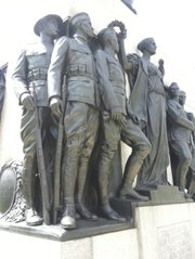 The All Wars Memorial to Colored Soldiers and Sailors is a beautiful bronze and granite sculpture on Logan Circle honoring Black service men and women.