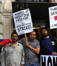 Condo workers go on strike