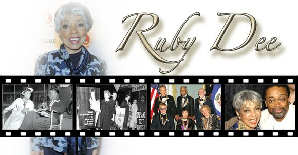 For Ruby Dee, acting and activism weren't contradictory things. They were inseparable, and they were intertwined.
