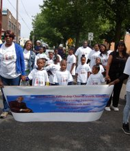 Full Harvest Fellowship Church Youth Authority had a strong presence walking the Juneteenth parade route Saturday, June 21 joined by kids and adults alike.