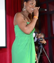 "Shanelle Gabriele hosting the S.L.E Lupus Foundation's ""Night for the Fight"""