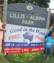 Shawn Penny (top right), with son Shawn Jr. and daughter Sydney, encourage participation in the family-friendly Good in the Hood Festival this weekend at Lillis Albina Park, located at North Flint Avenue and Russell Street. Penny serves as president of the multicultural celebration which opens Friday, June 27 and continues through Sunday, June 29.  Highlights include live music with among others, will feature a parade, and a host of other activities.