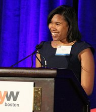 On June 18, 2014, YWCA Boston hosted a diverse group of more than 600 public, private, and nonprofit professionals for the 20th Annual Academy of Women Achievers Celebration Luncheon. The event honored the extraordinary accomplishments of local female leaders and celebrated YW Boston's mission to eliminate racism, empower women and promote social equity.