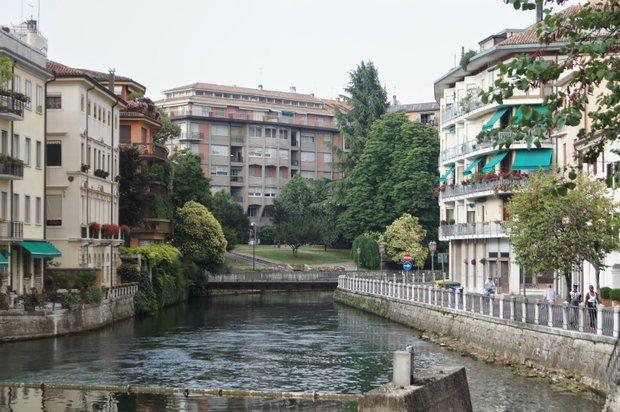 Treviso's canals rival those of nearby Venice