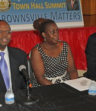 District Attorney Ken Thompson, First Assistant DA Renee V. Gregory and chief assistant DA Mark Felman
