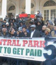 Central Park Five protestors