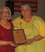 Diane Porter and honoree Sharonnie Perry, winner of the Indomitable Spirit Award