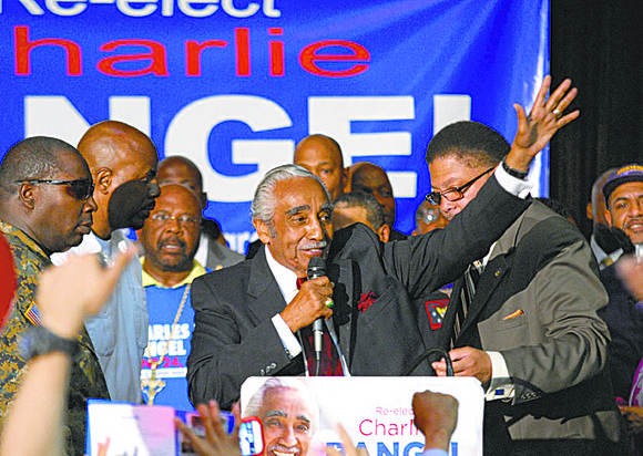 With 100 percent of precincts reporting, Rep. Charlie Rangel looked to have won re-election in New York's 13th Congressional District.