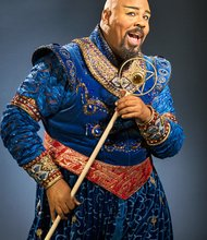 "James Monroe Igleheart as ""Aladdin"" (see THEATER)"