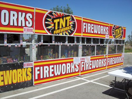 """Safe and Sane"" fireworks will go on sale at noon tomorrow in Palmdale. These are the only fireworks that may ..."