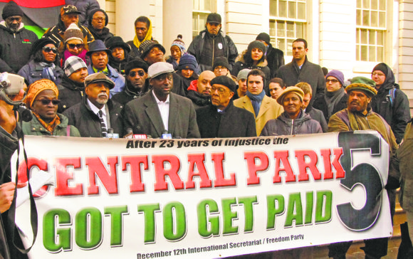 "City Comptroller Scott Stringer signs off on ""Central Park 5"" $40 million settlement."