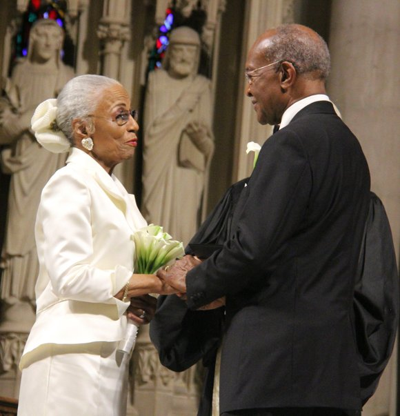 The Rev. James A. Forbes Jr., senior minister emeritus of the Riverside Church, and Bettye F. Forbes, founder of the ...