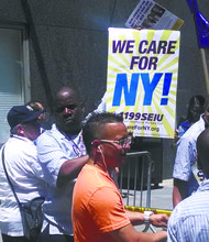 Nurses, caregivers hold protest for better jobs
