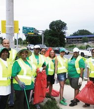 On Saturday, June 21, 2014, the group rendezvoused in the parking lot of the AMF Woodlawn Lanes located at 6410 Security Boulevard in Baltimore before heading out to clean up litter along their adopted stretch of highway. Iota Phi Lambda Sorority, Incorporated Kappa Chapter volunteers pick up litter four times per year on their adopted roadside.