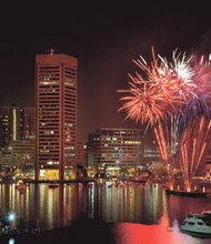 Fireworks over the Inner Harbor