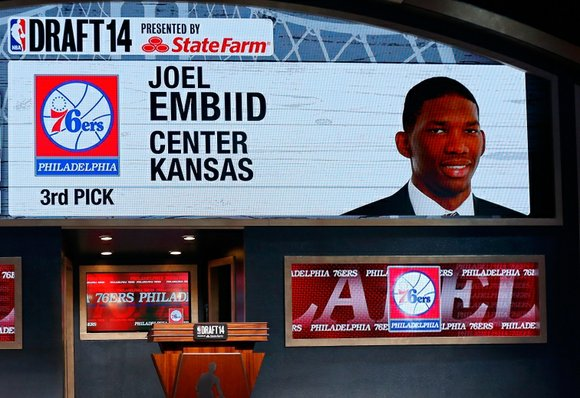 The Philadelphia 76ers have found their big man of the future, selecting Joel Embiid third overall in the 2014 NBA ...