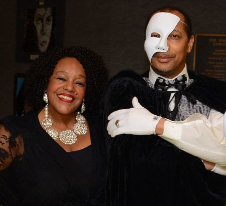 """A """"Phantom of the Opera""""-costumed gentleman greeted guests Thursday at Harmony Hall Regional Center John Addison Concert Hall in Fort ..."""