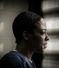 India, 42, suffers from manic depression and post-traumatic stress disorder. She has spent almost all of her adult life in jails and prisons. (John Gress/The New York Times)