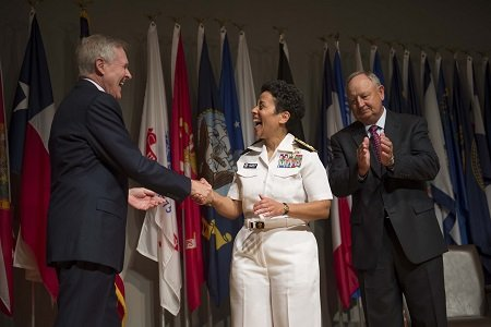 The U.S. Navy has promoted Vice Adm. Michelle Howard to admiral, making her the first female four-star officer in the ...