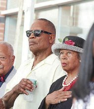 Former Mayors David Dinkins and Sharpe James participating on Tuesday.
