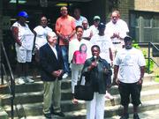 Assemblywoman Annette Robinson, Assemblyman Walter Mosley, City Controller Scott Stringer, Councilman Robert Cornegy and the Rev. Taharka Robinson