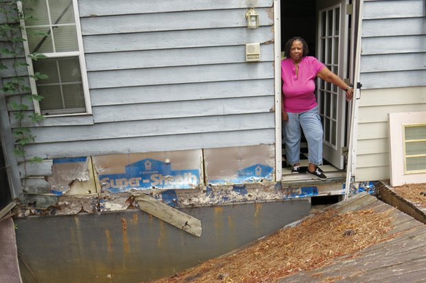 Deanna Fleming thought she was in an earthquake when a huge blast rocked her Lehigh Boulevard home in June 2013. Blasting at the DeKalb Snapfinger Wastewater Plant caused her deck to separate from her house and other damage.