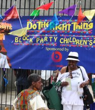 """Do the right thing"" block party"