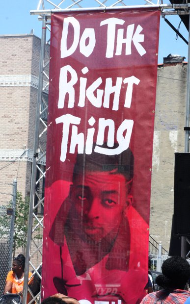 """""""Do the right thing"""" block party"""