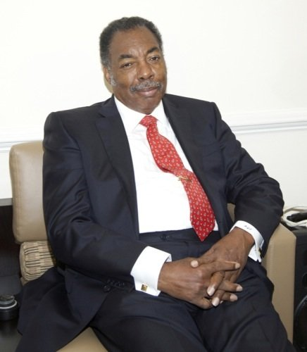Freedom Rider Hank Thomas answers questions from the press before delivering the keynote speech for a June 2 ceremony at a U.S. Department of Education facility in Richmond, Virginia, to commemorate the 50th anniversary of the Civil Rights Act.