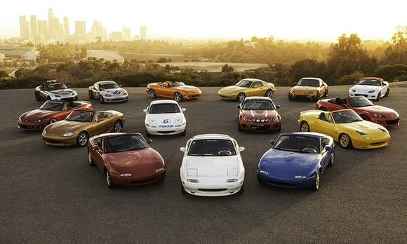 Miatas of every age, generation and condition will pull into the infield at Mazda Raceway Laguna Seca. They will be ...