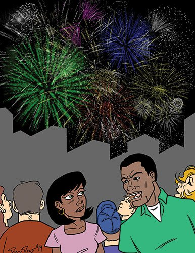 """""""I'm celebrating the 50th anniversary of the Civil Rights Act as well as the 4th of July."""""""