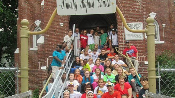 The congregation of a North Carolina church travelled to Roxbury to help with renovations on the Timothy Baptist Church