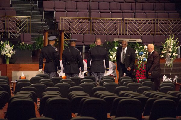 The Honorable Wayne K. Curry funeral at First Baptist Church of Glenarden on Thursday, July 10.