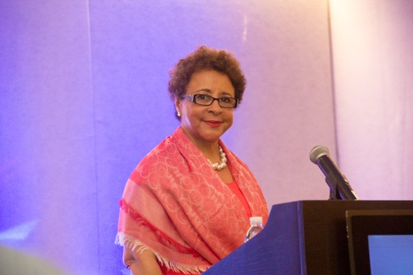 Salamander Hotel & Resorts CEO Sheila C. Johnson is the featured speaker at the School of Chamber and Business Management luncheon held at the new Black-owned Marriott Marquis in Northwest on Thursday, July 10.