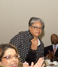 IBM Vice President of Market Development, Sales and Distribution, Denise Evans is recognized at the U.S. Black Chambers School of Chamber and Business Management luncheon held at the new Black-owned Marriott Marquis in Northwest on Thursday, July 10.
