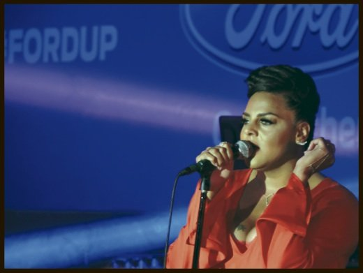 "Marsha Ambrosius (formerly with Floetry) delivered her concert in one of the superlounges in the ""Dome"" in New Orleans for the Essence Music Festival."