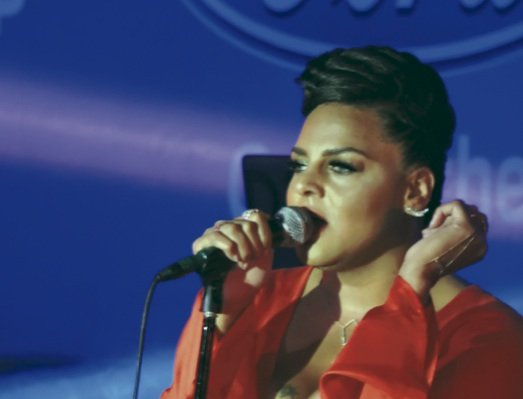 "Marsha Ambrosius (formerly with Floetry) delivered her concert in one of the superlounges in the ""Dome"" in New Orleans for the Essence Music Festival. (L. Toomer)"